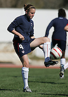 MAR 11, 2006: Quarteira, Portugal:  USWNT forward Heather O'Reilly.