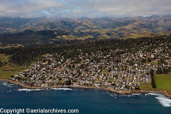 aerial photograph of Cambria, San Luis Obispo County, California