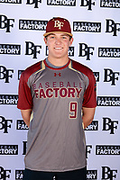 Austin Schlagel (9) of La Cueva High School in Albuquerque, New Mexico during the Baseball Factory All-America Pre-Season Tournament, powered by Under Armour, on January 12, 2018 at Sloan Park Complex in Mesa, Arizona.  (Mike Janes/Four Seam Images)