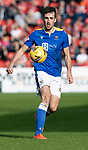 Aberdeen v St Johnstone…18.09.21  Pittodrie    SPFL<br />Callum Booth<br />Picture by Graeme Hart.<br />Copyright Perthshire Picture Agency<br />Tel: 01738 623350  Mobile: 07990 594431
