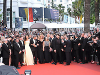 Cannes France May 12 2016 Jodie Foster, George Clooney, Julia Roberts, Dominic West, Caitriona Bafle, Jack O'Connel attends the Money monster Premiere at the Palais des Festival During the 69th Annual Cannes Film Festival