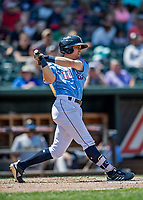 23 June 2019: New Hampshire Fisher Cats infielder Nash Knight at bat against the Trenton Thunder at Northeast Delta Dental Stadium in Manchester, NH. The Thunder defeated the Fisher Cats 5-2 in Eastern League play. Mandatory Credit: Ed Wolfstein Photo *** RAW (NEF) Image File Available ***