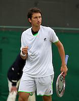 28-06-13, England, London,  AELTC, Wimbledon, Tennis, Wimbledon 2013, Day five,  Sergiy Stakhovsky (UKR<br /> <br /> <br /> <br /> Photo: Henk Koster