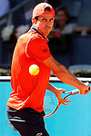 Guillermo Garcia-Lopez during Madrid Open Tennis 2015 match.May, 5, 2015.(ALTERPHOTOS/Acero)