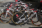 Cofidis team Look bikes lined up before the Prologue of the 99th edition of the Tour de France 2012, a 6.4km individual time trial starting in Parc d'Avroy, Liege, Belgium. 30th June 2012.<br /> (Photo by Eoin Clarke/NEWSFILE)