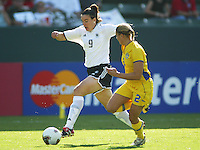 Birgit Prinz, Germany vs. Sweden in the 2003 WWC Finals. Germany won 2-1.