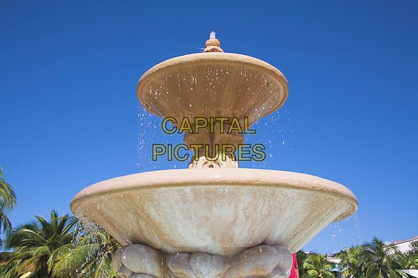 Ornate water fountain in a garden, Guardalavaca, Holguin Province, Cuba