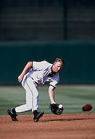 Jack Jones of the San Bernardino Stampede during a game at Arrowhead Credit Union Park in San Bernardino, California during the 1997 season.(Larry Goren/Four Seam Images)