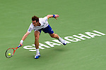SHANGHAI, CHINA - OCTOBER 15:  Andy Murray of Great Britain returns a ball to Jo-Wilfried Tsonga of France during day five of the 2010 Shanghai Rolex Masters at the Shanghai Qi Zhong Tennis Center on October 15, 2010 in Shanghai, China.  (Photo by Victor Fraile/The Power of Sport Images) *** Local Caption *** Andy Murray
