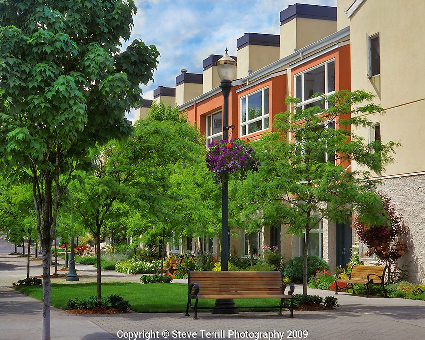 Townhouses/condominiums in the Pearl District of downtown Portland, Oregon.