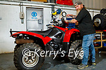 Mick Browne of Kingdom Quad Repairs in Castleisland on Tuesday.