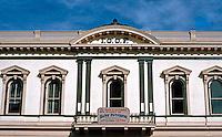 San Diego: I.O.O.F. Building, 526 Market St. Upper Facade, 1882. Classic Revival, Victorian. Levi I. Goodrich. Photo '81.