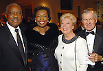 From left: Sam and Mary Daffin with Judy and Ray Jones at the Leading Hearts Gala VIP Reception at the Skyline Ballroom at the Hilton Americas downtown Saturday Oct. 24,2009. (Dave Rossman/For the Chronicle)
