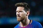 Lionel Andres Messi looks during the La Liga match between FC Barcelona vs RCD Espanyol at the Camp Nou on 09 September 2017 in Barcelona, Spain. Photo by Vicens Gimenez / Power Sport Images