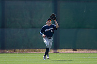 Milwaukee Brewers center fielder Zach Clark (67) during a Minor League Spring Training game against the Colorado Rockies at Salt River Fields at Talking Stick on March 17, 2018 in Scottsdale, Arizona. (Zachary Lucy/Four Seam Images)