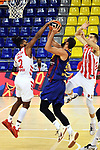 Turkish Airlines Euroleague 2020/2021. <br /> Regular Season-Round 10.<br /> FC Barcelona vs Crvena Zvezda MTS Belgrade: 76-65.<br /> Corey Walden vs Nikola Mirotic.