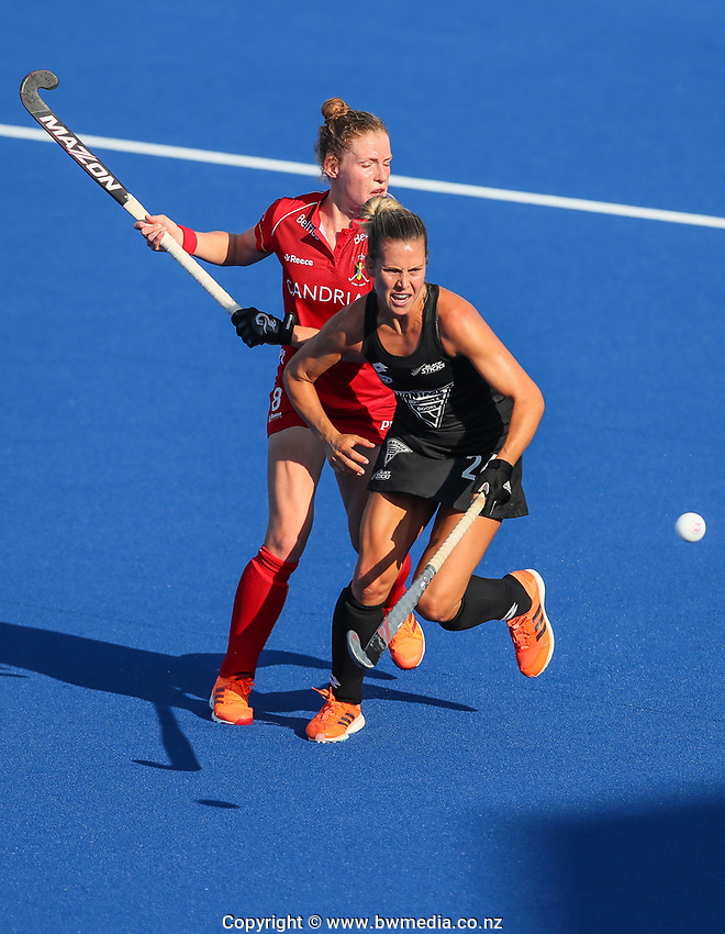 Rose Keddell during the Pro League Hockey match between the Blacksticks Women and Belgium, National Hockey Arena, Auckland, New Zealand, 1st February 2020. Photo: Simon Watts/www.bwmedia.co.nz