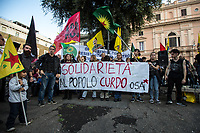 11.10.2019 - Urgent Call! Take To The Streets For Rojava - Demo in Rome Against Turkish Invasion