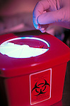 biohazard disposal container, needlestick prevention