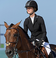 MIAMI BEACH, FL - APRIL 19: Jennifer Gates at the Longines Global Champions Tour stop in Miami Beach. Singer Bruce Springsteen's daughter Jessica Rae Springsteen and fellow riders Former Mayor of New York Michael Bloomberg's daughter Georgina Bloomberg as well as Bill Gates daughter Jennifer Gates were all in attendance on April 19, 2019 in Miami Beach, Florida<br /> <br /> <br /> People:  Jennifer Gates
