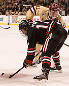 Braden Pimm (NU - 14), Pat Mullane (BC - 11) - The Boston College Eagles defeated the Northeastern University Huskies 6-3 for their fourth consecutive Beanpot championship on Monday, February 11, 2013, at TD Garden in Boston, Massachusetts.