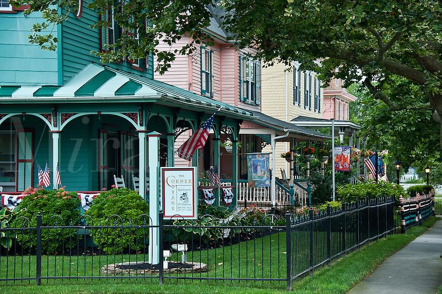 Quaint victorian houses, Cape May, NJ, USA