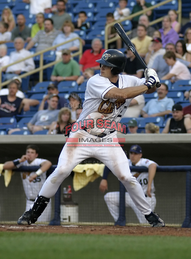 May 12, 2004:  Brad Snyder of the Lake County Captains, Low-A South Atlantic League affiliate of the Cleveland Indians, during a game at Classic Park in Eastlake, OH.  Photo by:  Mike Janes/Four Seam Images