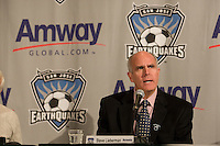 Steve Lieberman, Managing Director of Amway Global..The San Jose Earthquakes and Amway Global announced a historic three-year partnership agreement today that will include Amway GlobalÕs name on the front of the Earthquakes jerseys beginning in 2009. The partnership also features a number of in-stadium, community and grassroots components that will provide greater visibility for both the Earthquakes and Amway Global.