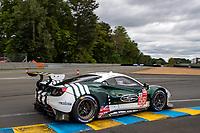 #55 Spirit of Race Ferrari 488 GTE EVO LMGTE Am, Duncan Cameron, David Perel, Matthew Griffin, 24 Hours of Le Mans , Free Practice 1, Circuit des 24 Heures, Le Mans, Pays da Loire, France