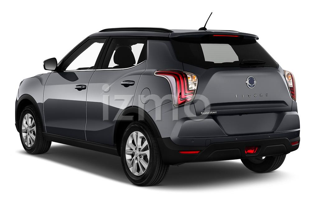 Car pictures of rear three quarter view of 2020 Ssangyong Tivoli Quartz 5 Door SUV Angular Rear