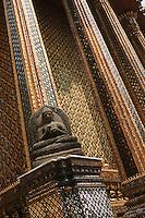 Thailande/Bangkok: Temple Wat Phra Kaeo Détail