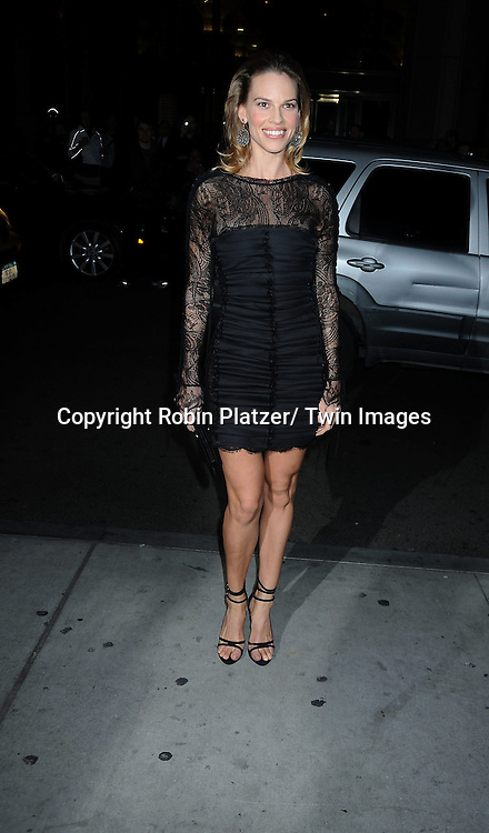 Hilary Swank at the Gotham Independent Film Awards on November 29, 2010 at Cipriani Wall Street in New York City.