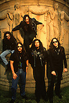 Various portrait sessions of the rock band, Testament