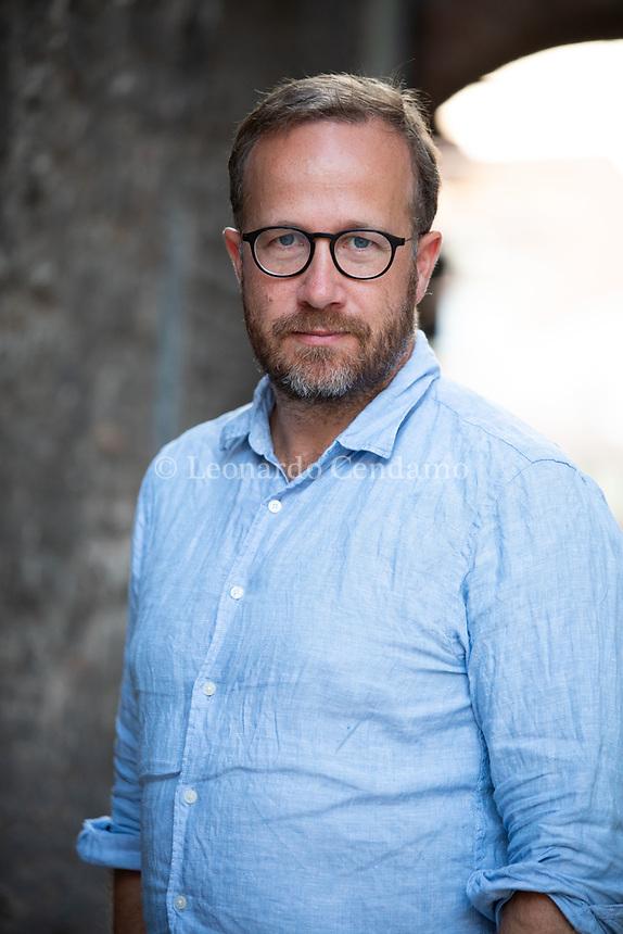 Andri Snær MAGNASON (1973) oltre che scrittore è un intellettuale, poeta, performer, attivista ambientale a fianco di Björk, candidato alle ultime presidenziali islandesi. Mantova, 10 settembre 2021. Photo by Leonardo Cendamo/Getty Images