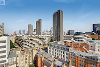 BNPS.co.uk (01202) 558833. <br /> Pic: OrlandoReid/BNPS<br /> <br /> Pictured: Views from the rooftop garden. <br /> <br /> A flat in a ten-storey Art Deco mansion block that was the fictional home of TV detective Hercule Poirot has gone up for rent for £1,950 a month.<br /> <br /> Grade II listed Florin Court in East London was used for filming the long-running ITV series about Agatha Christie's iconic detective.<br /> <br /> The one-bedroom ground floor flat includes a double bedroom, an open plan reception room and kitchen, and a study or home office and<br /> a marble-tiled family bathroom.<br /> <br /> The exterior of the building has strong Art Deco motifs, many of which were used in the filming of Poirot, for 24 years, from 1989 to 2013.