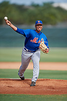 GCL Mets relief pitcher Dedniel Nunez (29) delivers a pitch during a game against the GCL Cardinals on July 23, 2017 at Roger Dean Stadium Complex in Jupiter, Florida.  GCL Cardinals defeated the GCL Mets 5-3.  (Mike Janes/Four Seam Images)