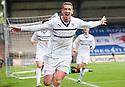 Raith Rovers' Calum Elliot celebrates after he scores their third goal.