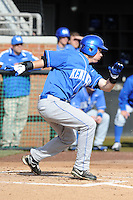 Right Fielder Cameron Flynn #11 sings at a pitch during a  game against the Tennessee Volunteers at Lindsey Nelson Stadium on March 24, 2012 in Knoxville, Tennessee. The game was suspended in the bottom of the 5th with the Wildcats leading 5-0. Tony Farlow/Four Seam Images.