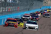 #9: Chase Elliott, Hendrick Motorsports, Chevrolet Camaro Unifirst, #19: Martin Truex Jr., Joe Gibbs Racing, Toyota Camry Bass Pro Shops