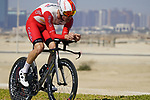 Fabio Sabatini (ITA) Cofidis during Stage 2 of the 2021 UAE Tour an individual time trial running 13km around  Al Hudayriyat Island, Abu Dhabi, UAE. 22nd February 2021.  <br /> Picture: Eoin Clarke | Cyclefile<br /> <br /> All photos usage must carry mandatory copyright credit (© Cyclefile | Eoin Clarke)