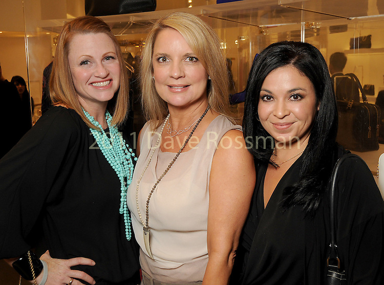 From left: Stephanie Paget, Melissa Juneau and Monica Tschen at the Versace pre-party for the Vogue Galleria Fashion Show at the Galleria Thursday Sept. 10,2015.(Dave Rossman photo)