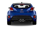 Straight rear view of 2016 Hyundai Veloster 1.6-Turbo-Manual 4 Door Hatchback Rear View  stock images