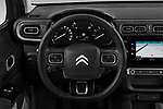 Car pictures of steering wheel view of a 2020 Citroen C3 Shine 5 Door Hatchback Steering Wheel