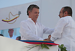 Guerrilla group FARC signs an accord ending war in Colombia