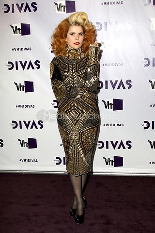 LOS ANGELES, CA - DECEMBER 16: Paloma Faith at VH1 Divas 2012 at The Shrine Auditorium on December 16, 2012 in Los Angeles, California. Credit: mpi21/MediaPunch Inc.
