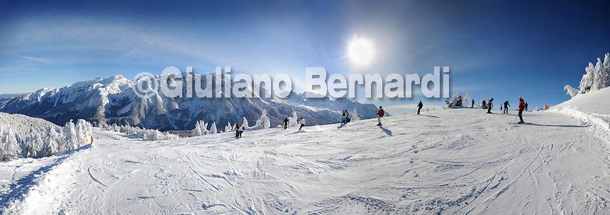 Piste Folgarida-Val di Sole Inverno-Sasso Rosso Dolomiti di Brenta invernali