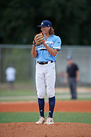 William Kohn (0) during the WWBA World Championship at Lee County Player Development Complex on October 10, 2020 in Fort Myers, Florida.  William Kohn, a resident of Verbena, Alabama who attends Chilton County High School, is committed to Mississippi State.  (Mike Janes/Four Seam Images)