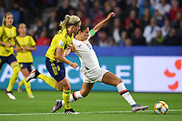 LE HAVRE, FRANCE - JUNE 20: Carli Lloyd #10 during a 2019 FIFA Women's World Cup France group F match between the United States and Sweden at Stade Océane on June 20, 2019 in Le Havre, France.