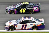 #11: Denny Hamlin, Joe Gibbs Racing, Toyota Camry FedEx Freight and#48: Jimmie Johnson, Hendrick Motorsports, Chevrolet Camaro Ally