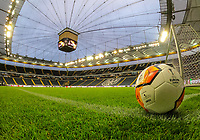 Leere Commerzbank Arena zum Europa League Spiel gegen Basel - 12.03.2020: Eintracht Frankfurt vs. FC Basel, UEFA Europa League, Achtelfinale, Commerzbank Arena<br /> DISCLAIMER: DFL regulations prohibit any use of photographs as image sequences and/or quasi-video.